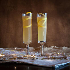 Rum and Champagne Cocktail