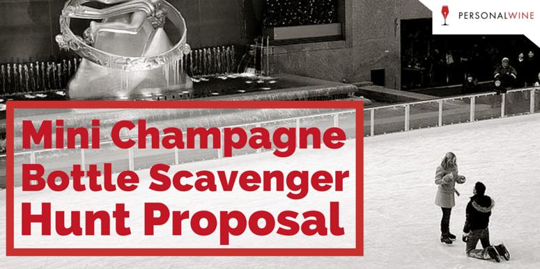 Mini Champagne Bottle Scavenger Hunt Proposal
