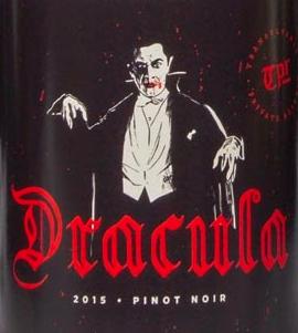 dracula wine label