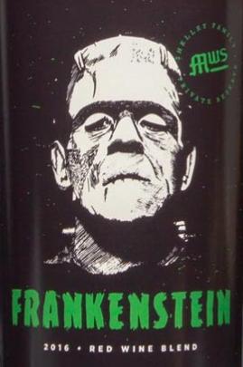 frankenstein wine label