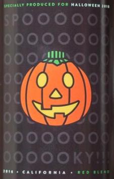 jack-o-lantern wine label