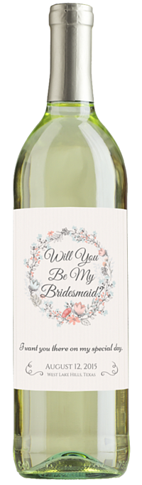 Will You Be My Bridemaid Wine Bottle