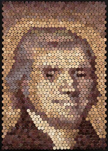 Thomas Jefferson Wine Cork Art