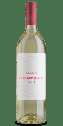 Urban Space personalized wine bottle