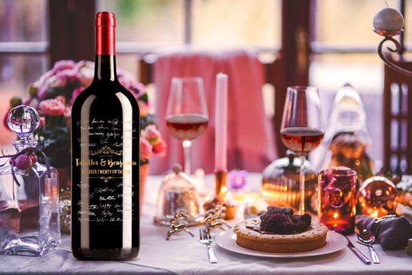 wedding wine bottle decor table centerpiece
