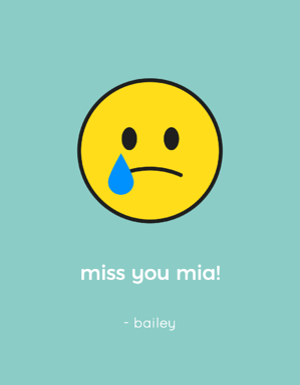 wine label with a sad emoji