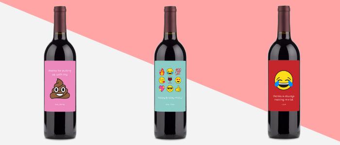 Emoji Wine Labels
