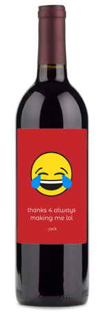 say thanks with an emoji wine gift