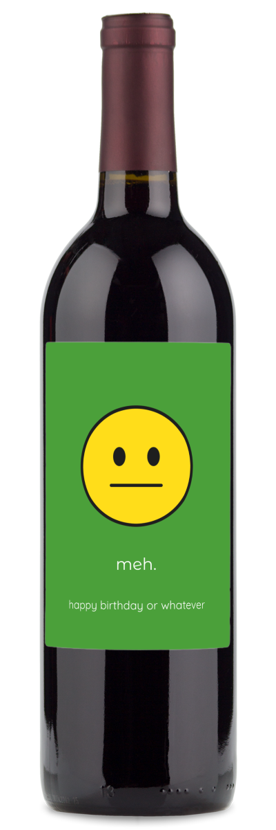 wine gifts for birthdays with emojis