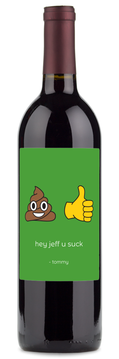 wine gifts for him with emojis