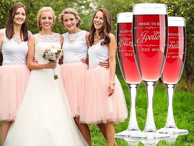 Personalized Wedding Wine Glasses