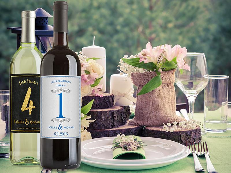 wine bottle centerpiece table number