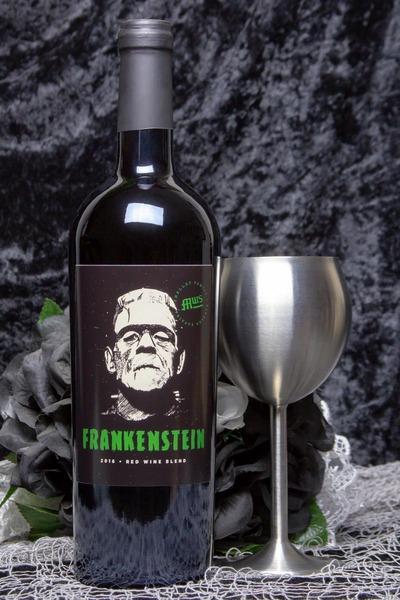 frankenstein wine bottle