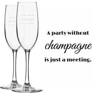 Engraved Champagne Glasses