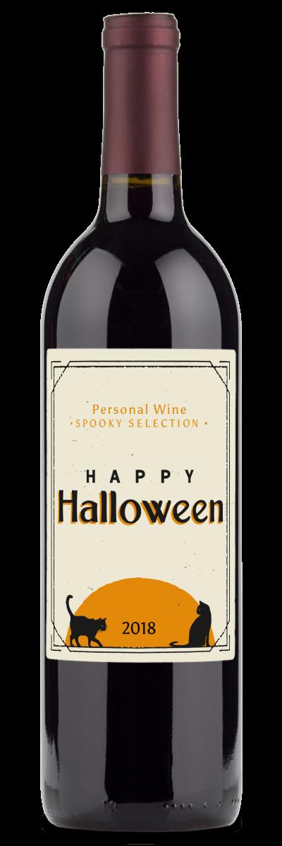 halloween cat wine bottle