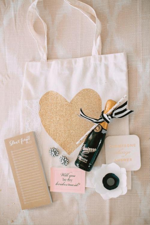 Tote bag bridesmaid proposal
