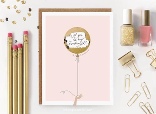 Mailed bridesmaid proposal