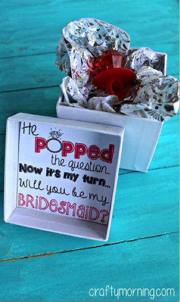 Ring pop bridesmaid proposal