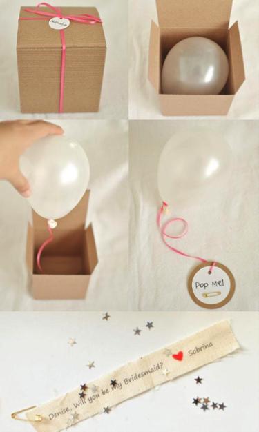 Balloon bridesmaid proposal
