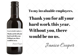 Personalized Wine Labels for Employees