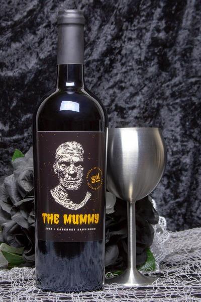 mummy wine bottle