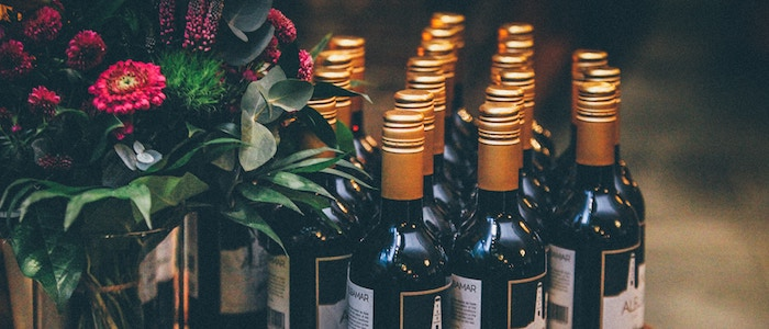 Mini Wine Bottles as Party Favors