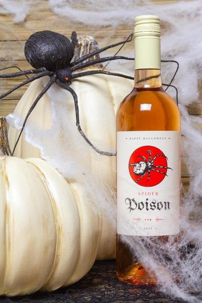 poison wine bottle