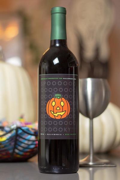 jack-o-lantern wine bottle